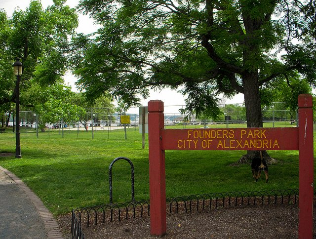 Founders Park in Alexandria