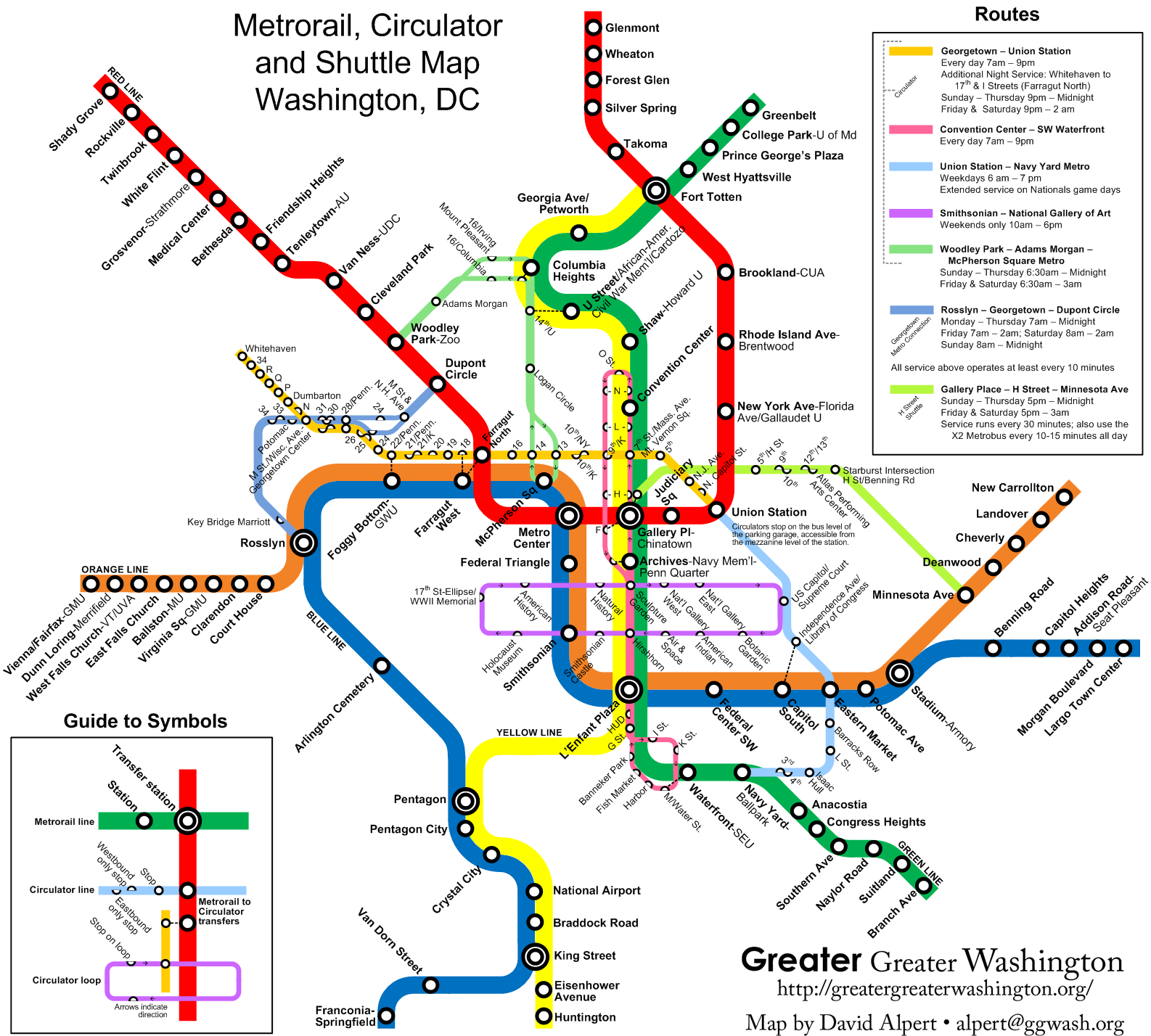 Washington dc Map With Metro Stations Metro Map With dc Circulator