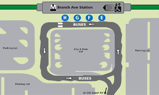 Branch Ave Metro Map