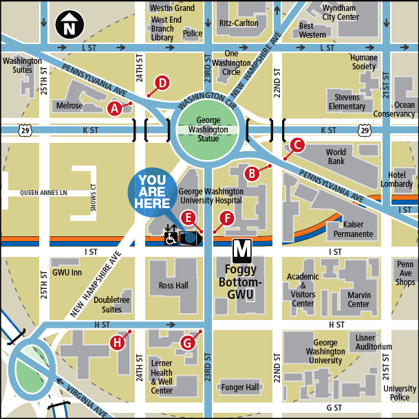 Foggy Bottom-GWU Metro Map