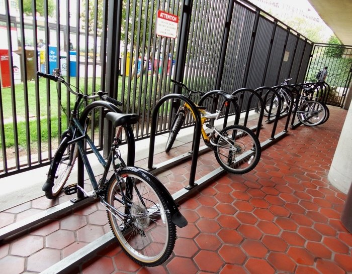 Bike Racks at King Street Metro Station