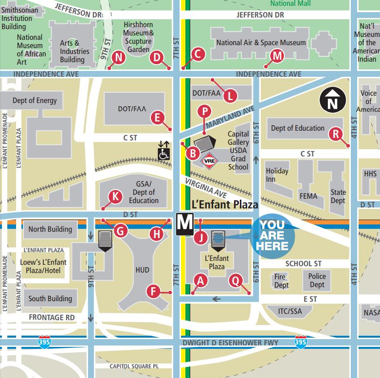 Washington Dc Subway Map Silver Line.L Enfant Plaza Metro Station Washington Dc