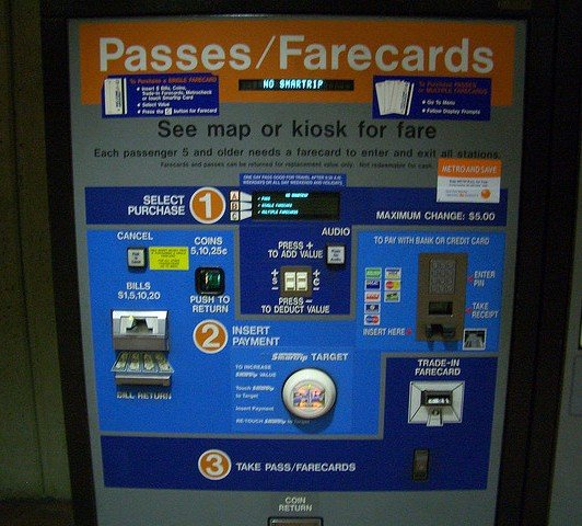 Passes/Farecard Machines